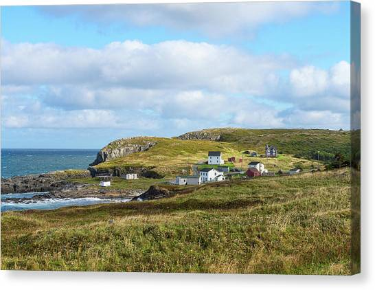 Newfoundland And Labrador Canvas Print - Village Of Maberly On The Bonavista by Panoramic Images