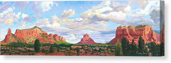 Village Of Oak Creek - Sedona Canvas Print by Steve Simon