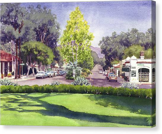 Railroads Canvas Print - Village Of Rancho Santa Fe by Mary Helmreich