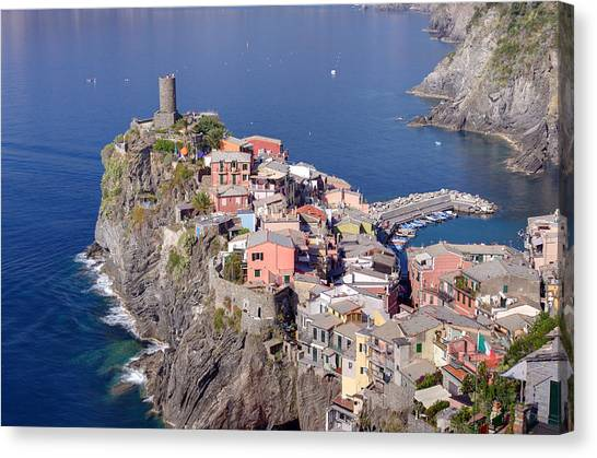 village of Vernazza Canvas Print by Ioan Panaite