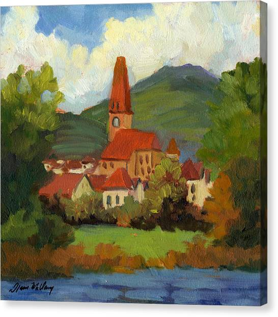 Danube Canvas Print - Village On The Danube by Diane McClary