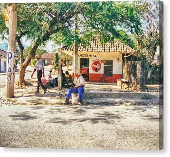Village Street Scene Canvas Print