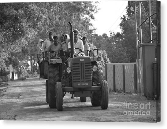 Village Tractor  Canvas Print by Bobby Mandal