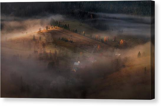 Village Under The Cover Canvas Print by Peter Svoboda, Mqep