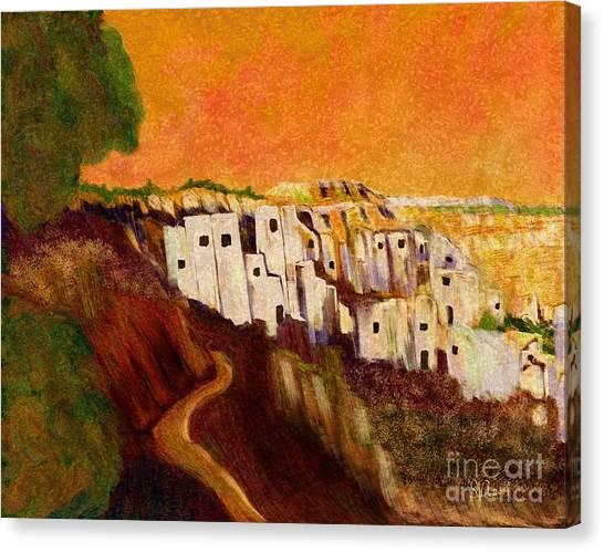 Tequila Sunrise Canvas Print - Villaggio Sunrise by Sydne Archambault
