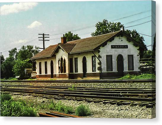 Villisca Train Depot Canvas Print