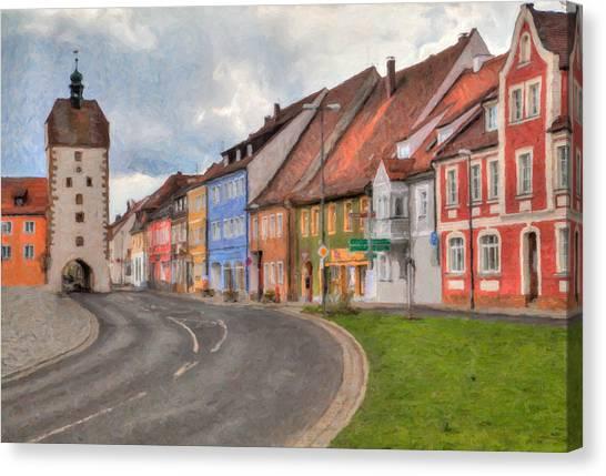 Vilseck Marktplatz Canvas Print