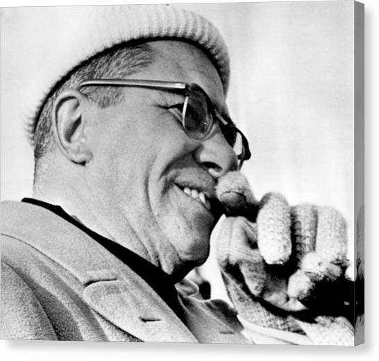 Washington Redskins Canvas Print - Vince Lombardi Close Up by Retro Images Archive