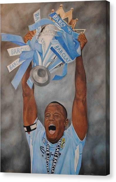 Vincent Kompany Canvas Print