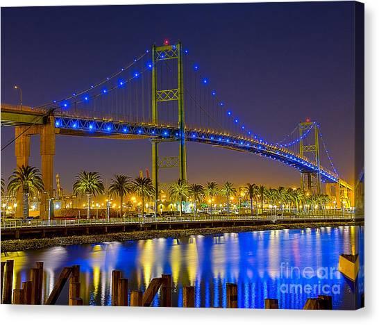 Vincent Thomas Bridge - Nightside Canvas Print