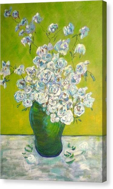 Vincents' Flowers Canvas Print by Marilyn Hurst