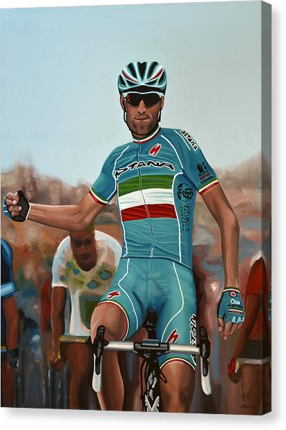 Cyclist Canvas Print - Vincenzo Nibali Painting by Paul Meijering