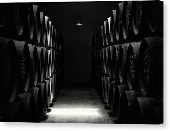 Winery Canvas Print - Vinery by Hans-wolfgang Hawerkamp