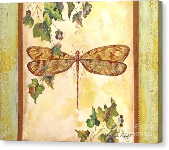 Vineyard Dragonfly Canvas Print