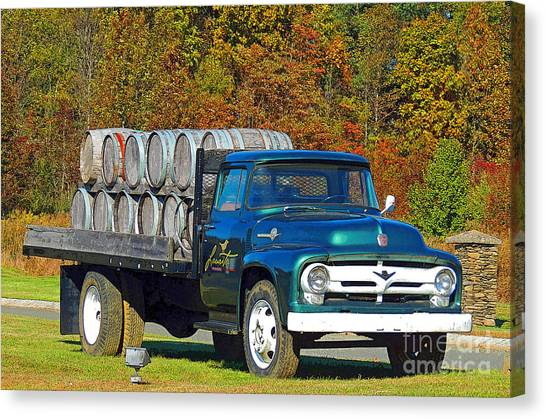 Vineyard Truck Canvas Print by Marian DeSalvo-Rodgers