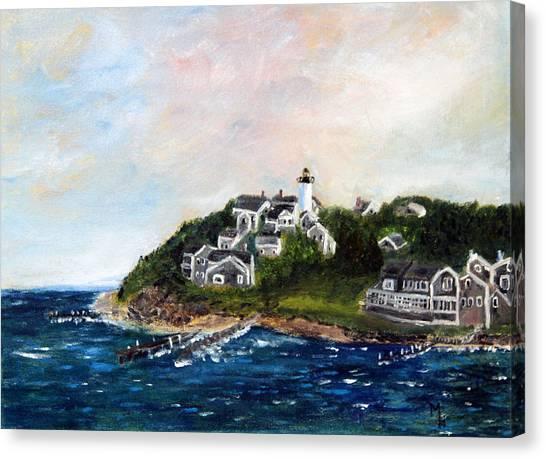 Vineyard Village Canvas Print
