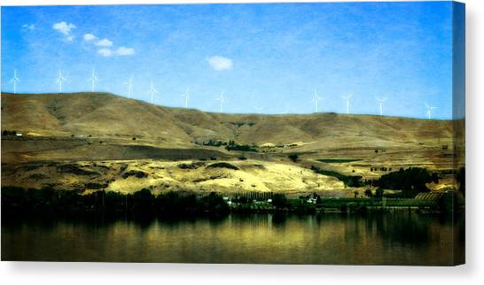 Vineyards On The Columbia River Canvas Print