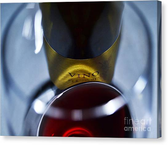 Vino Reflections Canvas Print by John Debar
