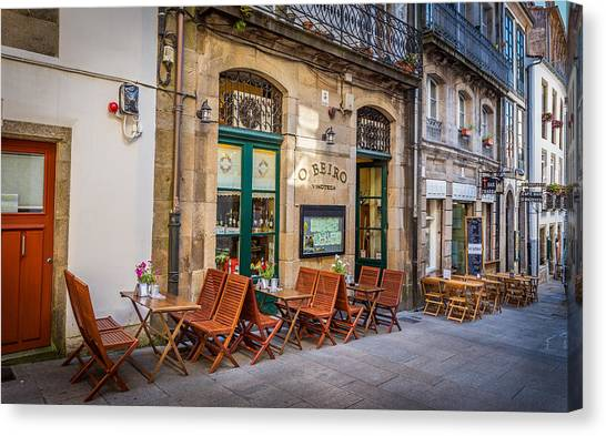 Canvas Print featuring the photograph Vinoteca by Gary Gillette