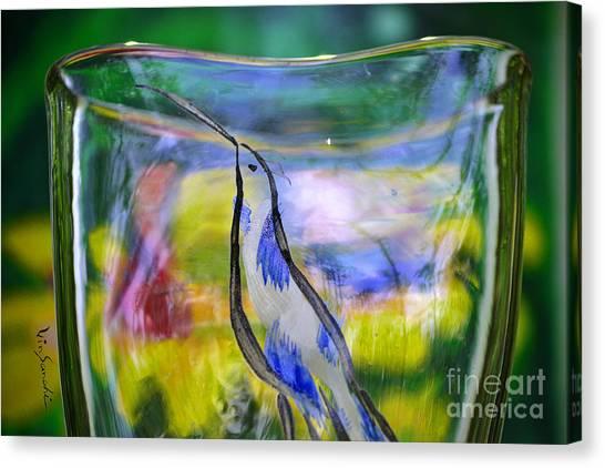 Vinsanchi Glass Art-1 Canvas Print by Vin Kitayama