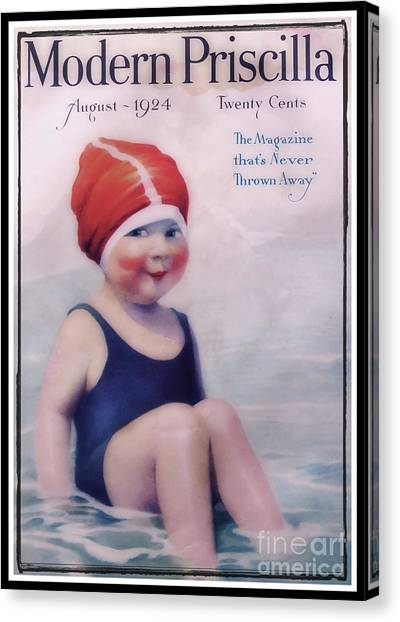 Vintage 1924 - Modern Priscilla Canvas Print