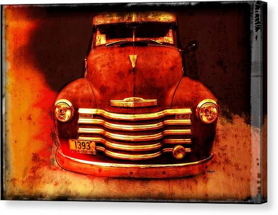 Vintage 1950 Chevy Truck Canvas Print