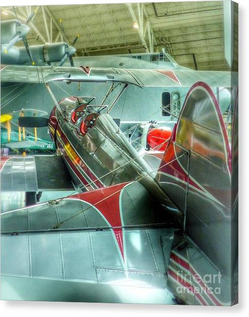 Vintage Airplane Comparison Canvas Print