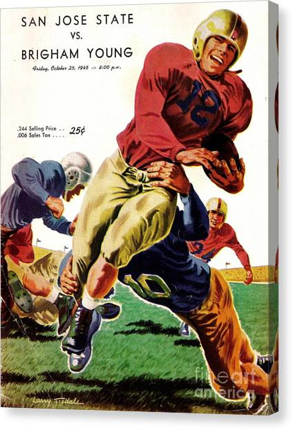 Vintage American Football Poster Canvas Print
