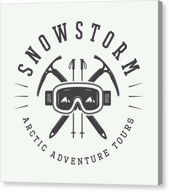 Symbols Canvas Print - Vintage Arctic Mountaineering Logo by Akimd