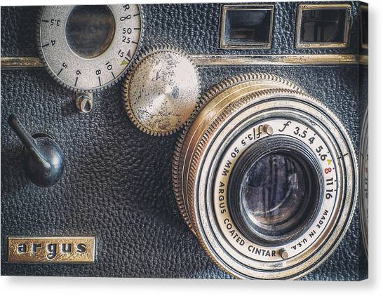 Vintage Camera Canvas Print - Vintage Argus C3 35mm Film Camera by Scott Norris
