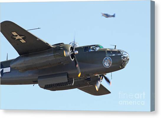 Vintage B-25 Mitchell Bomber Canvas Print