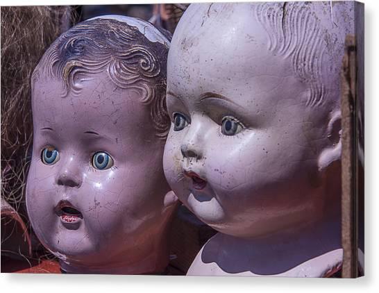 Fleas Canvas Print - Vintage Baby Doll Heads by Garry Gay