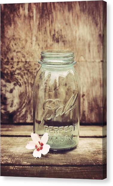 Vintage Ball Mason Jar Canvas Print