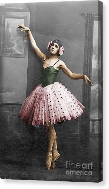 Vintage Ballerina  Canvas Print