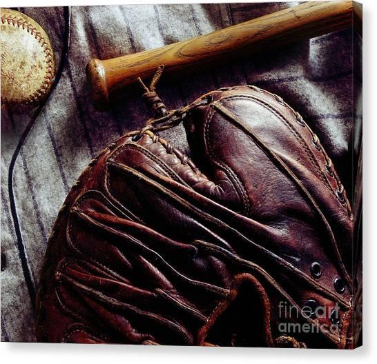 Cincinnati Reds Canvas Print - Vintage Baseball by Jon Neidert