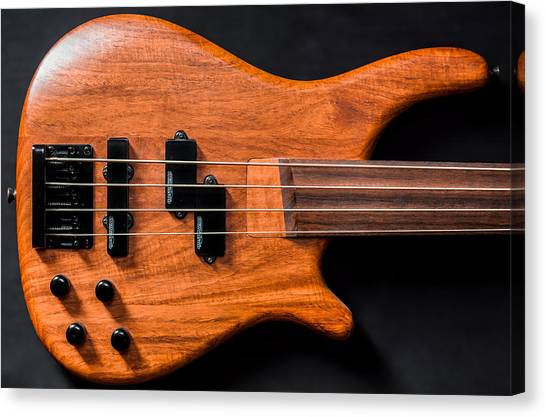 Vintage Bass Guitar Body Canvas Print