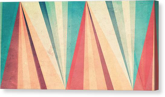 Vintage Canvas Print - Vintage Beach by Vess DSign