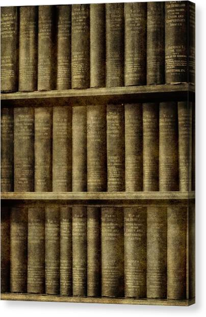 Binders Canvas Print - Vintage Books by Dan Sproul