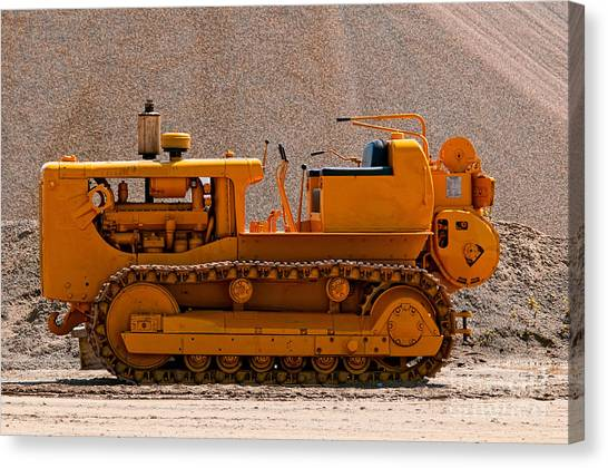 Vintage Bulldozer Canvas Print