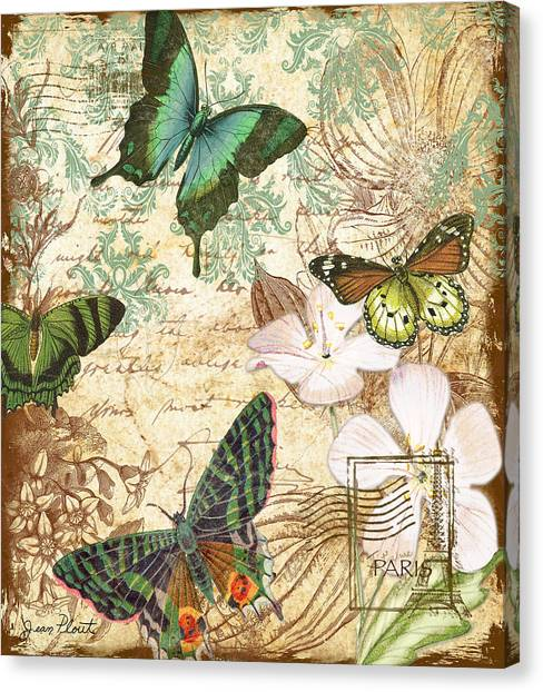 Vintage Butterfly Kisses  Canvas Print