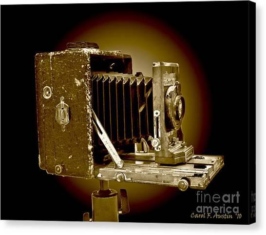 Vintage Camera In Sepia Tones Canvas Print