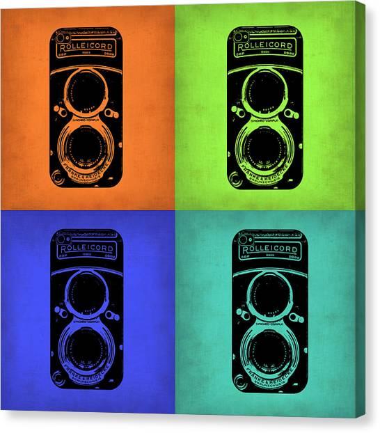 Vintage Camera Canvas Print - Vintage Camera Pop Art 1 by Naxart Studio