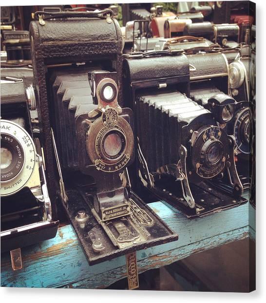 Vintage Camera Canvas Print - Vintage Cameras by Sarah Coppola