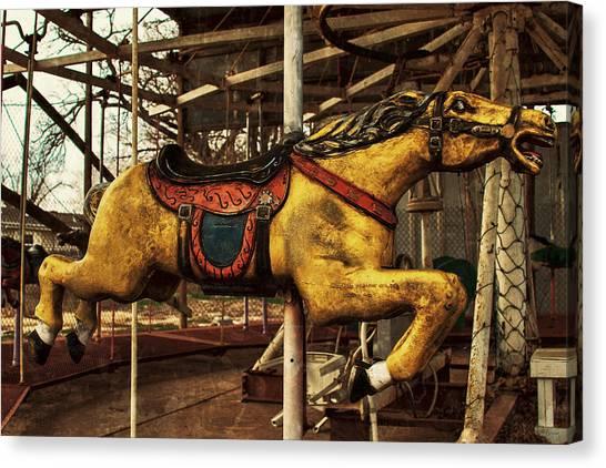 Vintage Carousel Horses 013 Canvas Print