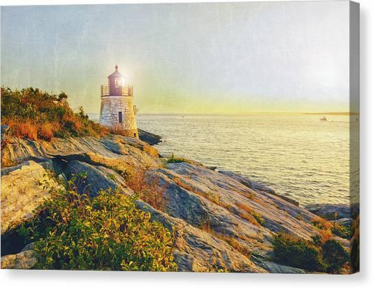 Vintage Castle Hill Light Canvas Print