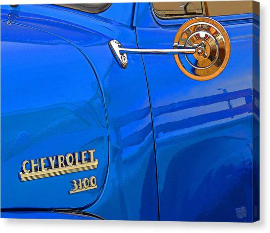 Fun Run Canvas Print - Vintage Chevy 3100 by Donna Lee Young