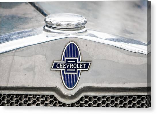 Vintage Chevy Logo Canvas Print