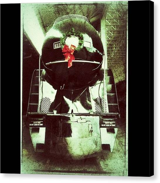 Trains Canvas Print - Vintage Class J Locomotive At The by Teresa Mucha