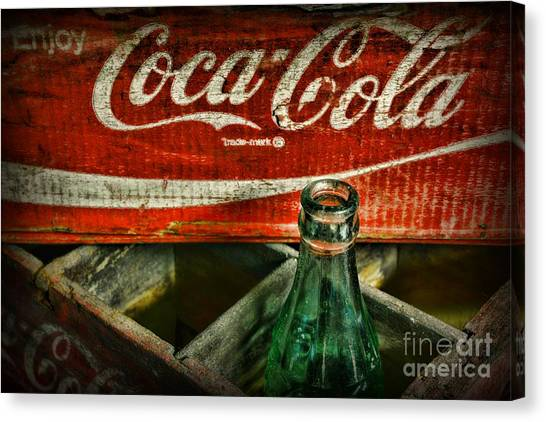 Coca Cola Canvas Print - Vintage Coca-cola by Paul Ward