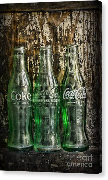 Vintage Coke Bottles Canvas Print